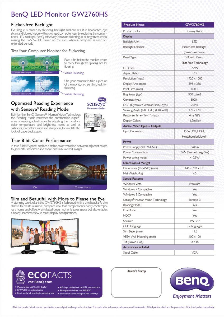 GW2760HS%20DS 11 B Review : BenQ GW2760HS VA LED Monitor
