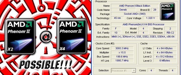 default thumb AMD Phenom II X2 550 Black Edition @ X4 Possible!!!