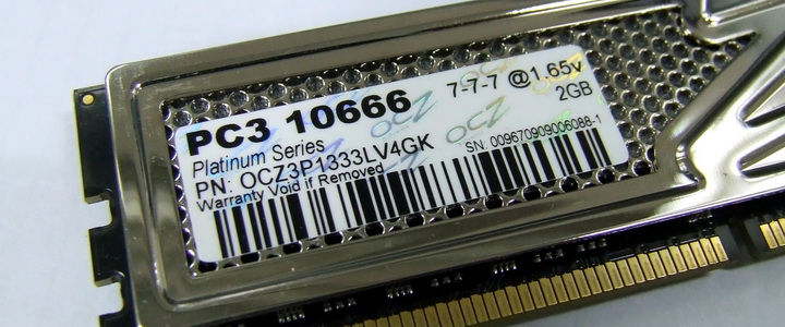 OCZ DDR3 PC3-10666 Platinum Low Voltage Dual Channel