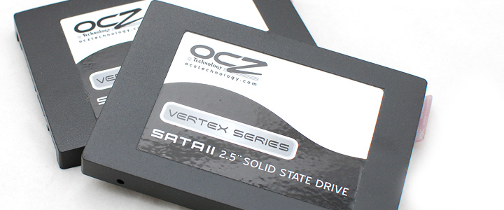 default thumb OCZ Vertex series 30gb solid state harddrive RAID0 performance showdown