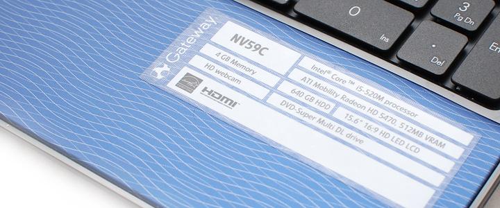 default thumb Review : Gateway NV59C (Intel Core i5 520)
