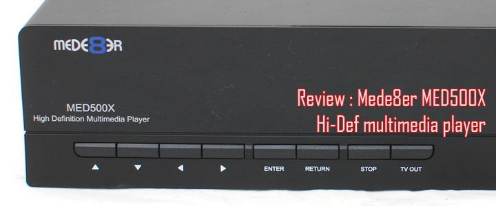 default thumb Review : Mede8er MED500X Hi-Def media player