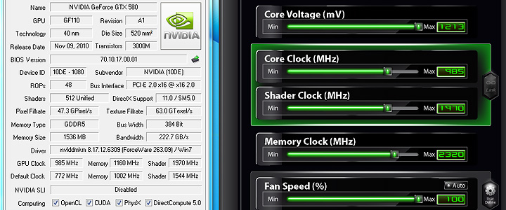 default thumb Unleashed Max Voltage to 1213mV & Fan Speed to 100% for all GTX 580