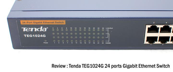 default thumb Review : Tenda TEG1024G 24-ports gigabit ethernet switch