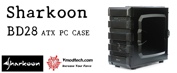 UNBOXING Sharkoon BD28 ATX PC CASE BLUE EDITION