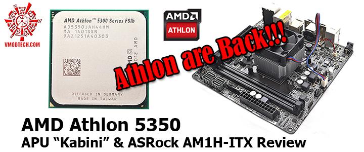 """AMD Athlon 5350 APU """"Kabini"""" & ASRock AM1H-ITX Review"""