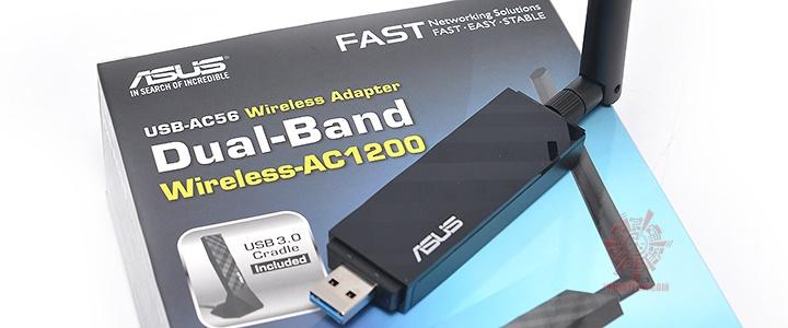 ASUS USB-AC56 Dual-band Wireless-AC1300 USB 3.0 Wi-Fi Adapter
