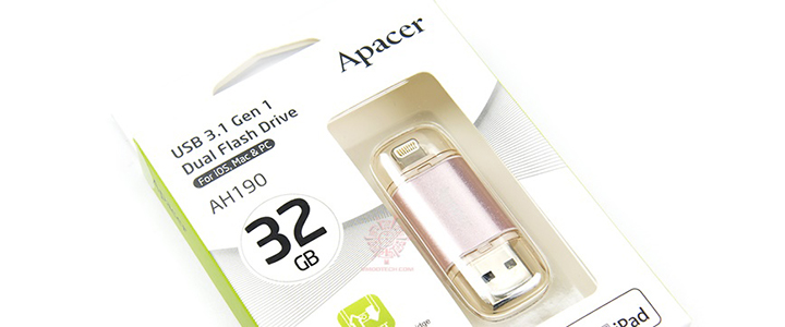 APACER AH190 Dual Flash Drive USB 3.1 Gen 1 Review