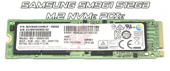 SAMSUNG SM961 512GB M.2 NVMe PCIe SSD Review