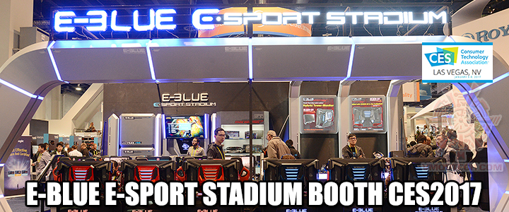 E-BLUE E-SPORT STADIUM BOOTH CES2017