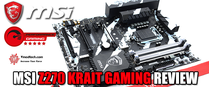 MSI Z270 KRAIT GAMING REVIEW