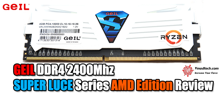 default thumb GEIL DDR4 2400Mhz SUPER LUCE Series AMD Edition Review