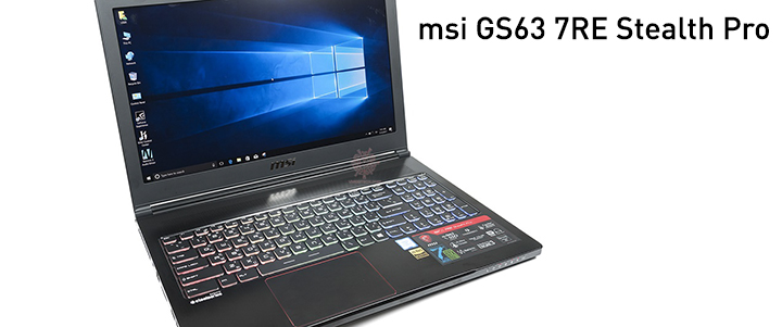 default thumb MSI GS63 7RE Stealth Pro Review