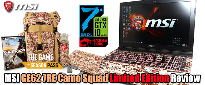 MSI GE62 7RE Camo Squad Limited Edition Review