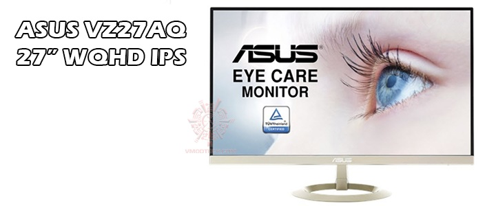 "ASUS VZ27AQ 27"" WQHD (2560 x 1440) IPS DP HDMI VGA Eye Care Monitor"