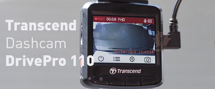 Transcend Dashcam DrivePro 110 Review