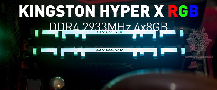 KINGSTON HYPER X PREDATOR RGB DDR4 2933MHz 4×8GB Review