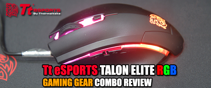 Tt eSPORTS TALON ELITE RGB GAMING GEAR COMBO REVIEW