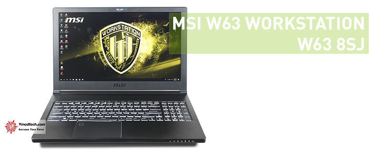 MSI WE63 WORKSTATION WE63 8SJ Review