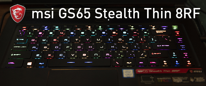 default thumb MSI GS65 Stealth Thin 8RF Review