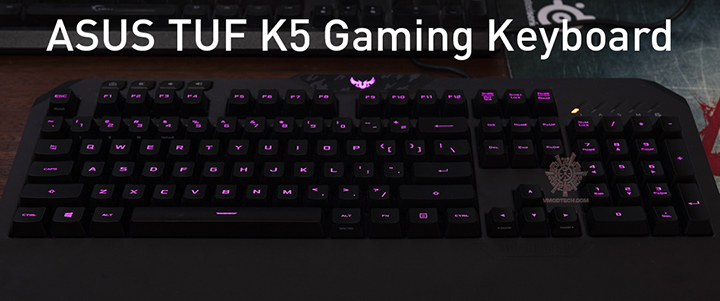 ASUS TUF Gaming K5 Gaming Keyboard Review