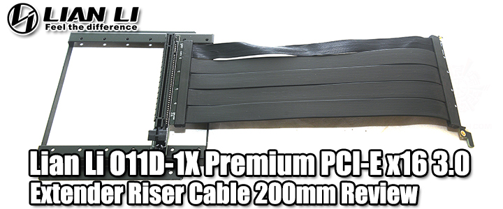default thumb Lian Li O11D-1X Premium PCI-E x16 3.0 Extender Riser Cable 200mm Review