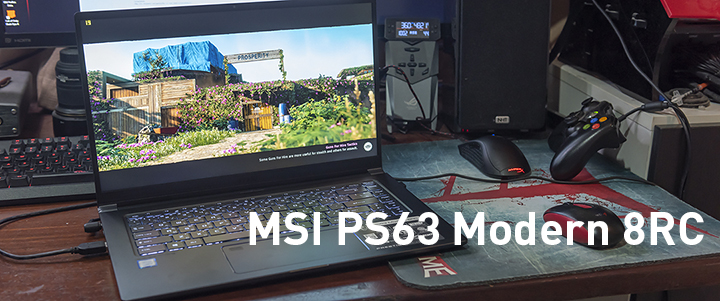 default thumb MSI PS63 Modern 8RC Review