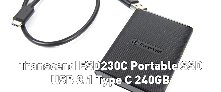 default thumb Transcend ESD230C Portable SSD USB 3.1 Type C 240GB