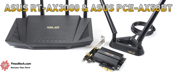 ASUS RT-AX3000 & ASUS PCE-AX58BT WiFi 6 Review