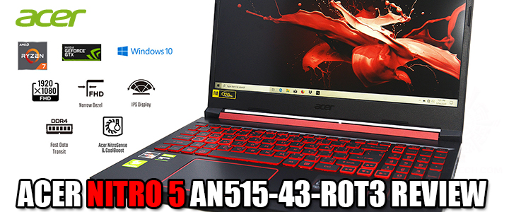 ACER NITRO 5 AN515-43-R0T3 AMD RYZEN 7 3750H VGA GTX 1650 120HZ IPS REVIEW