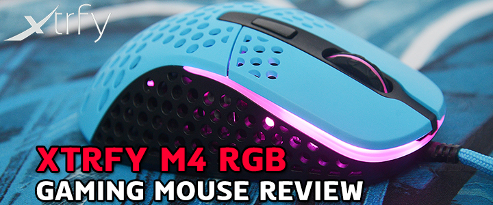 XTRFY M4 RGB GAMING MOUSE REVIEW