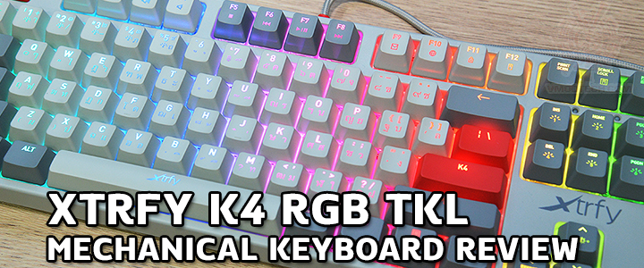 default thumb XTRFY K4 RGB TKL MECHANICAL KEYBOARD REVIEW