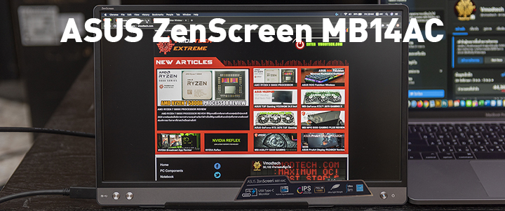 ASUS ZenScreen MB14AC Portable Monitor Review