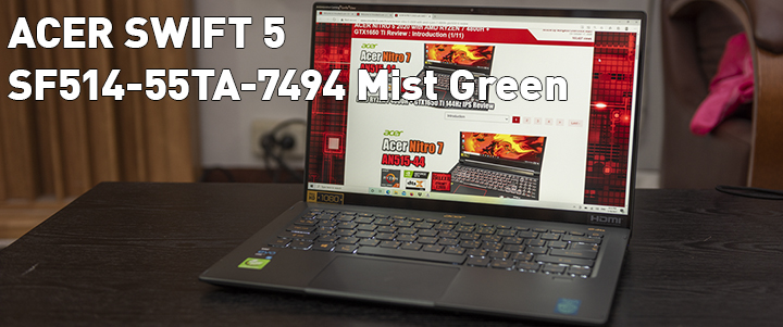 ACER SWIFT 5 SF514-55TA-7494 Mist Green Review
