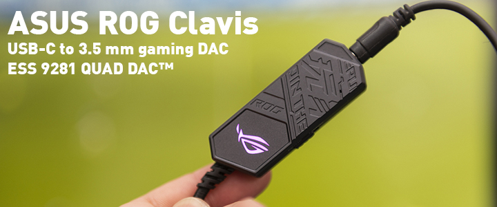 default thumb ASUS ROG Clavis USB-C to 3.5 mm gaming DAC Review