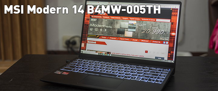 MSI Modern 14 B4MW-005TH Review