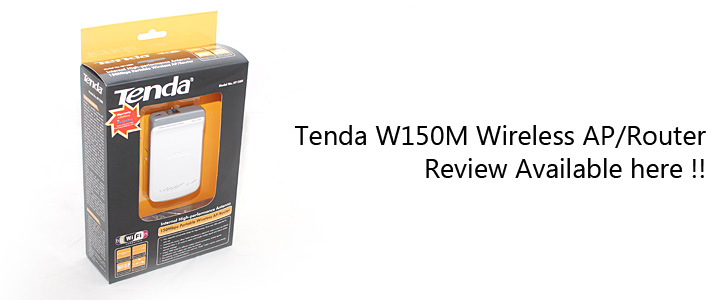1297184114DSC 9552 Review : Tenda W150M Wireless AP/Router