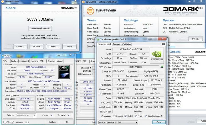 0313 Gigabyte GT240 DDR5 512M Ho