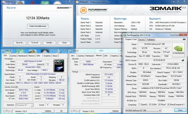0319 EVGA GT240 1GB DDR3