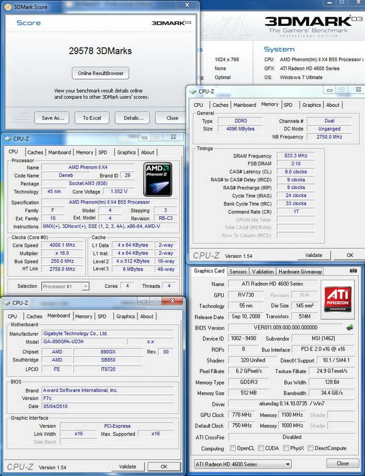 0326 Gigabyte 890GPA UD3H  Unlock Core