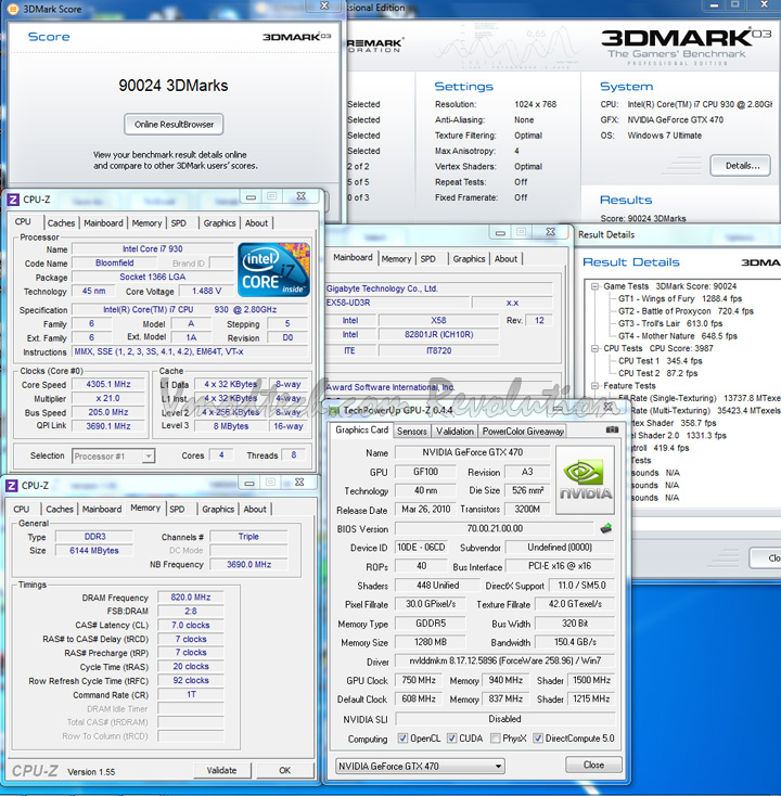 0328 Palit Geforce GTX470 1280MB DDR5 Overclock Test