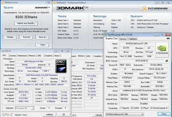 0513 EVGA GT240 1GB DDR3