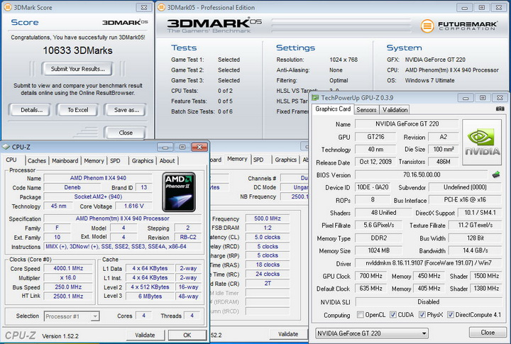 0516 PALIT GeForce GT 220 1024MB DDR2