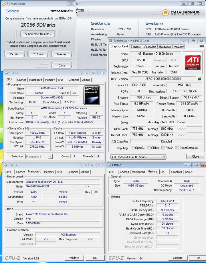 0520 Gigabyte 890GPA UD3H  Unlock Core