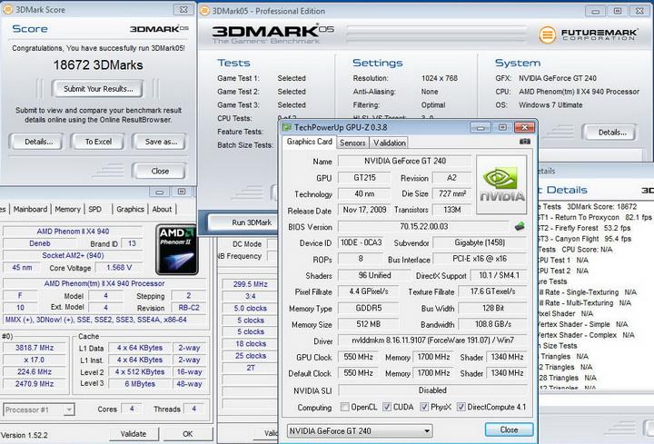 057 Gigabyte GT240 DDR5 512M Ho