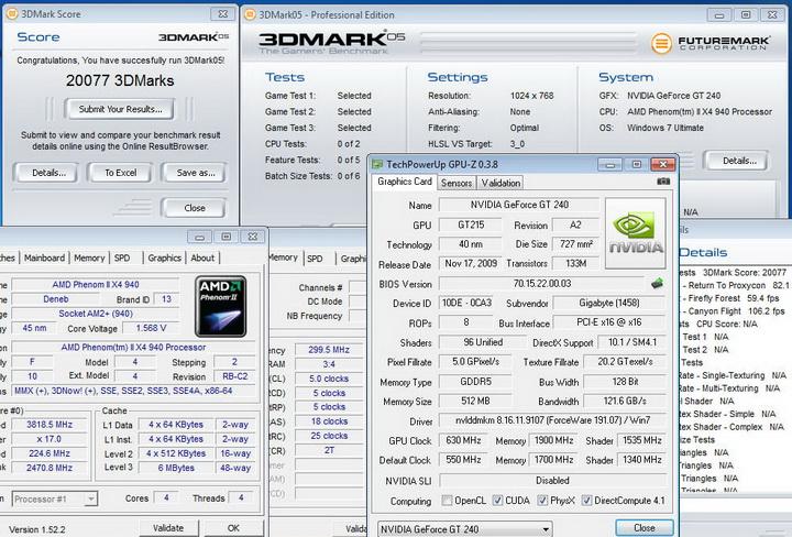 058 Gigabyte GT240 DDR5 512M Ho