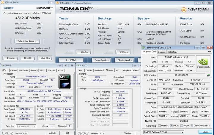 0614 EVGA GT240 1GB DDR3
