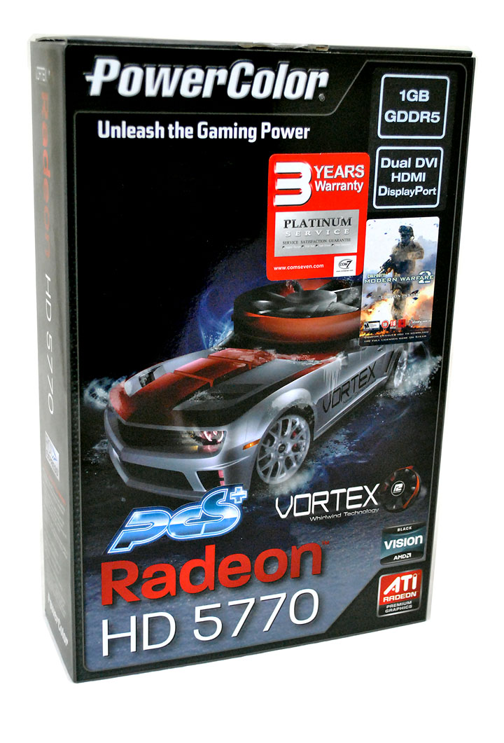 179 PowerColor Radeon HD5770 PCS+ VORTEX 1GB GDDR5 Review