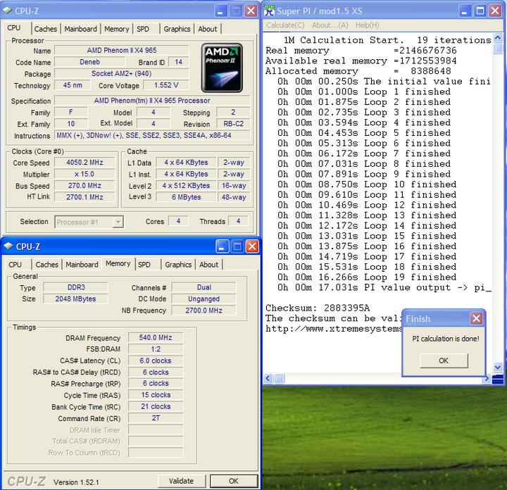 1m1 Phenom II X4 965BE @ 4 G อีกแล้ว