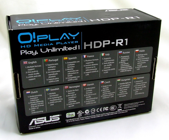 2 Asus O!Play  HD Media Player HDP R1